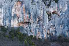 Free Reflection Of Rock Formations In Istria, Croatia Stock Photography - 165704072