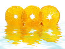 Free Reflection Of Tangerine Slices (macro) Royalty Free Stock Photography - 12307987