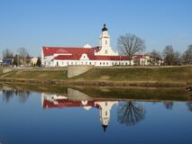 Free Reflection Of The Town Hall Building In The River In Orsha Royalty Free Stock Photo - 211188125