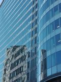 Reflection. On an office building Royalty Free Stock Photo