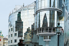 Reflection of old buildings in Vienna Stock Photo