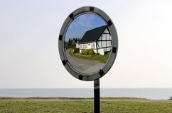 Reflection of an old house in Denmark Royalty Free Stock Image