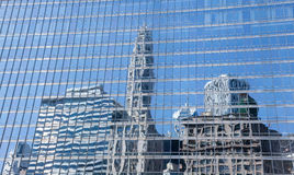Reflection of old and new Chicago buildings Stock Image
