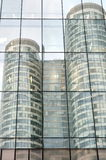 Reflection of one skyscraper to another Stock Photography