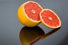 Reflection of an orange Stock Photography