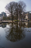 Reflection outside Civic Centre Plymouth Stock Images