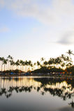Reflection over Ala Moana Beach Park Royalty Free Stock Photos