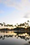 Reflection over Ala Moana Beach Park. Reflection over water at Ala Moana Beach Park in Honolulu Hawaii Royalty Free Stock Photos