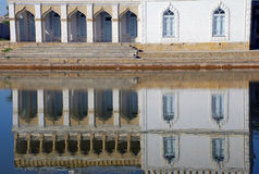 Reflection of the palace Sitorai Khosa, Bukhara Royalty Free Stock Photo
