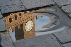 Reflection of Palazzo Vecchio Stock Photo