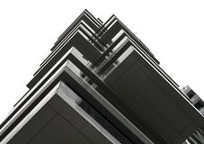 Reflection pattern of a modern building stock image