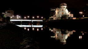 Reflection of the Peace Park done in Hiroshima Japan Stock Photo