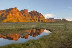 Reflection of the Peaks Stock Photography