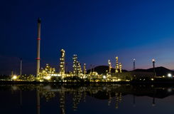 Reflection of petrochemical industry Royalty Free Stock Photography