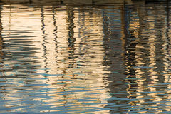 Reflection of a pier in the waters of lake Royalty Free Stock Photography