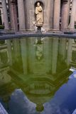 Reflection on the pond in El Escorial, Madrid stock photography