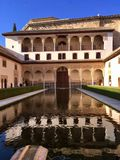 Reflection Pool at Alhambra. This reflection pool is beautiful from any angle at the Alhambra Palace in Granada, Spain royalty free stock images