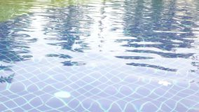 The reflection in the pool. The reflection of the water in the blue pool stock video footage