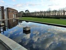 Reflection pool at Yering Station, Victoria Royalty Free Stock Photos