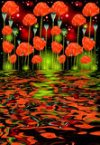 Reflection of poppy flowers in water Stock Photography