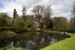 Reflection of Prudhoe Castle Royalty Free Stock Image