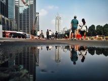 Reflection Puddle stock photography