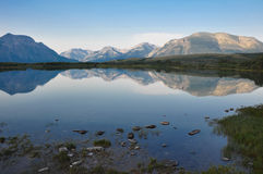 Reflection at a rendez-vous in Alberta, Canada Stock Photos