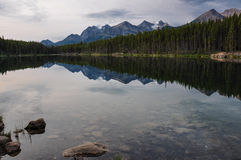 Reflection at the Rendez-vous, Rockies, Canada Royalty Free Stock Images