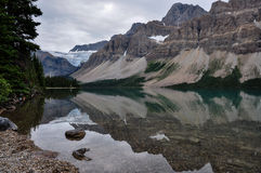 Reflection at the Rendez-vous, Rockies, Canada Stock Photo