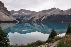 Reflection at the Rendez-vous, Rockies, Canada Royalty Free Stock Photography