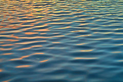 Reflection and the ripple on the water Royalty Free Stock Photography