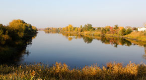Reflection in the river. Autumn landscape Royalty Free Stock Images