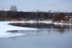 Freezing river stock images