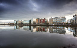 Reflection in river Liffey, Dublin Royalty Free Stock Photo