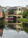 Reflection in the river (Durham, UK) Stock Photos