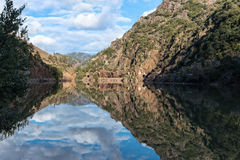 Reflection, Rock Creek Reservoir, Feather River Canyon Royalty Free Stock Image