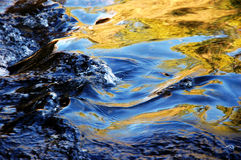 Reflection In Running Water Stock Images