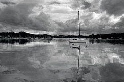 Reflection of sails boats yachts Royalty Free Stock Photo