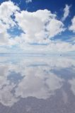 Reflection in the salt desert Royalty Free Stock Photo