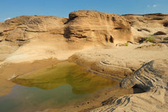 Reflection sandstone beach. Royalty Free Stock Photography