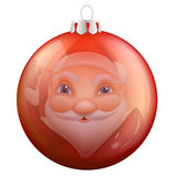 Reflection Santa Claus in Christmas ball Royalty Free Stock Images