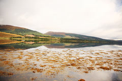 Reflection of the Scottish mountains Stock Images