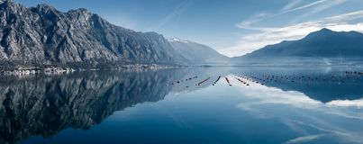 Reflection in the sea. royalty free stock photography
