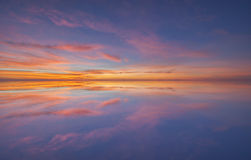 Reflection of sea water. Between sunset royalty free stock images