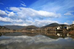 Reflection in shangri_la Stock Photography