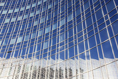 Reflection of sky and building Stock Photo