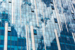 Reflection of the sky and clouds in building windows Royalty Free Stock Photography