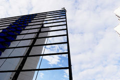 The reflection of the sky mirrored building Royalty Free Stock Photography