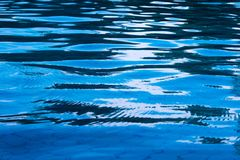 Reflection of sky on moving water surface in the pool. Reflection of sky on the moving water surface in the pool Stock Images