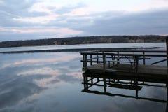 Reflection. The skys gorgeous reflection on Lake Galena Stock Photo